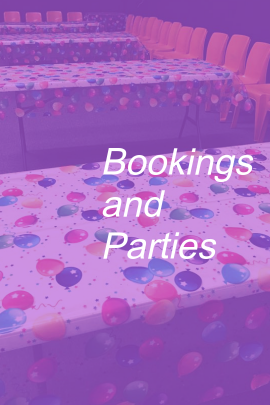bookings and parties